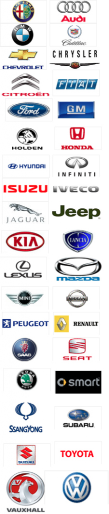 motor vehicle logos